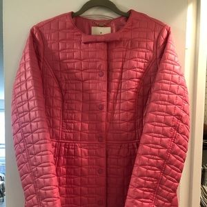 brand new Kate Spade quilt coat w/matching clutch
